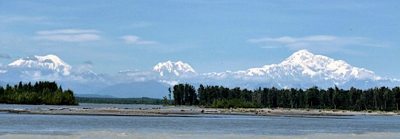 Views of Denali from talkeetna riverfront park